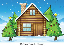 Hut clipart wooden house And house  of Cabin