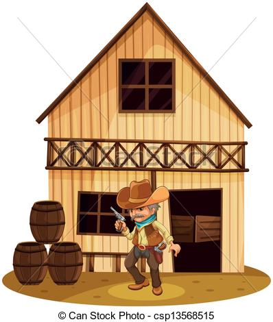 Hut clipart wooden house Clip holding in gun holding