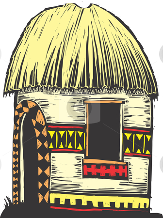 Hut clipart zulu Vector and straw vector Gallery