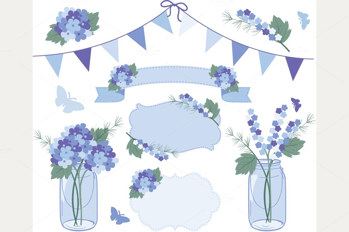 Hydrangea clipart Purple Download Hydrangea Clip Art