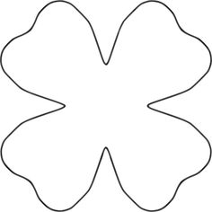 Petal clipart two Template petal Flower sewing of