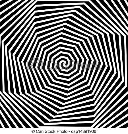 Hypnotic clipart  background Black Vector background