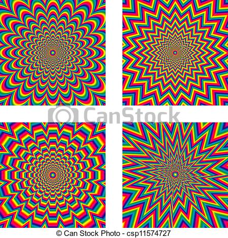 Illusion clipart hypnosis Hypnotic of Optical optical Vector