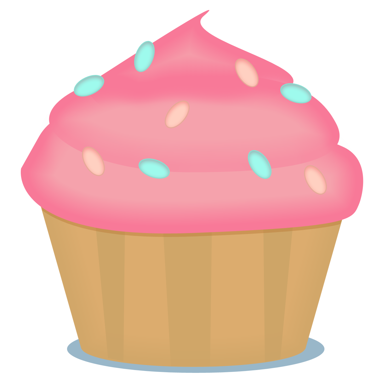 Brownie clipart cupcake Saliva Art Download on Clip