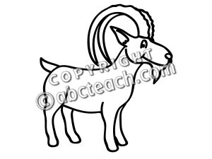 Ibex clipart Clipart words basic Ibex (71+)
