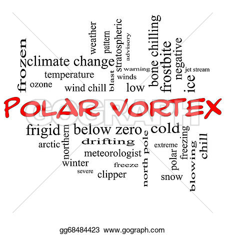Chill clipart winter word In caps Polar cloud terms