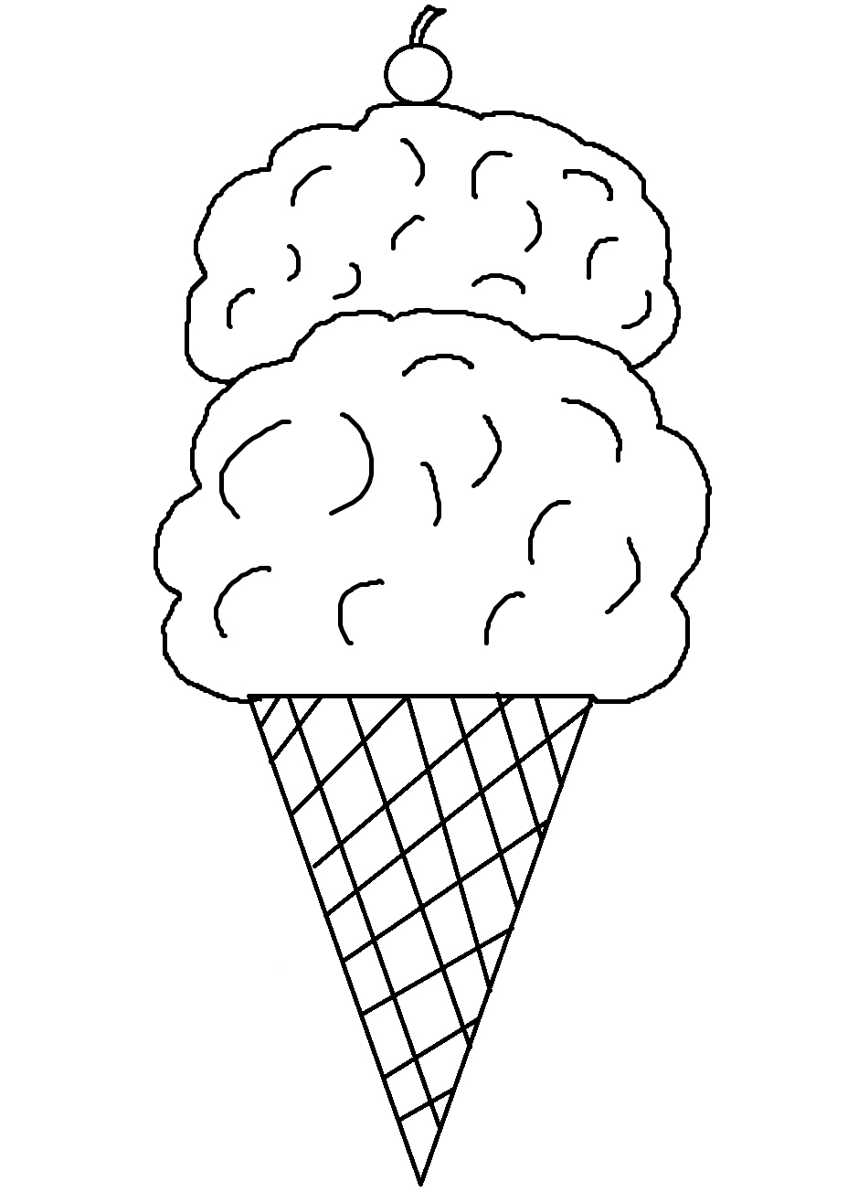 Waffle Cone clipart coloring page Download Art and library Cone