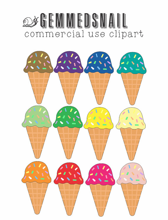 Ice Cream clipart top Flavors sprinkles art Ice ice