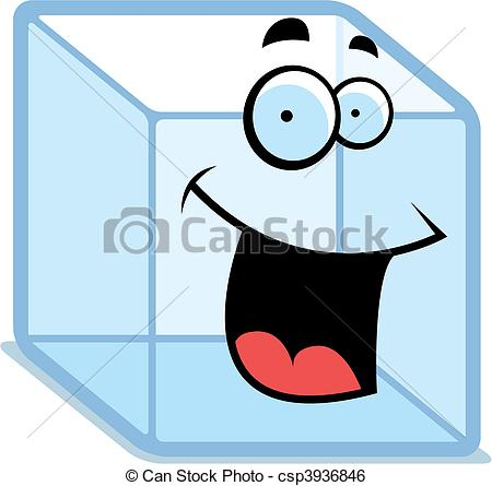Cube clipart cartoon Smiling Clip cube Ice A