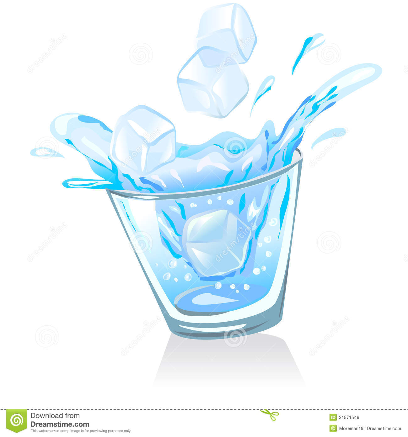 Blue Water clipart glass water Glass glass in clipart clipart