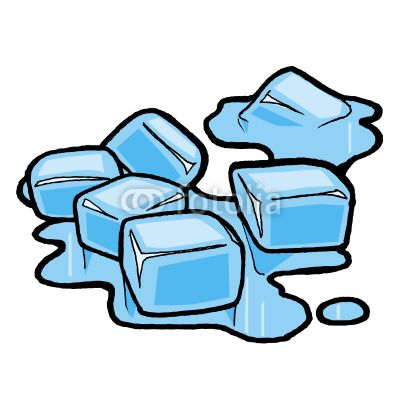 Cube clipart cartoon States point water were freezing