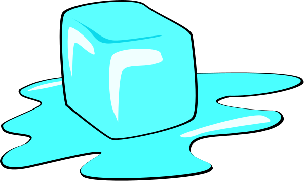 Ice Cube clipart melted Art  Melting Free Cube