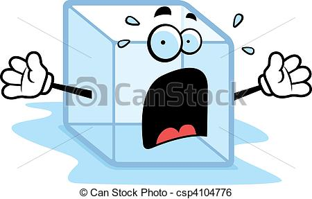 Ice Cube clipart melted A melting with Clip Melting