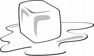 Ice Cube clipart melted Melting Cube Ice at Cartoon