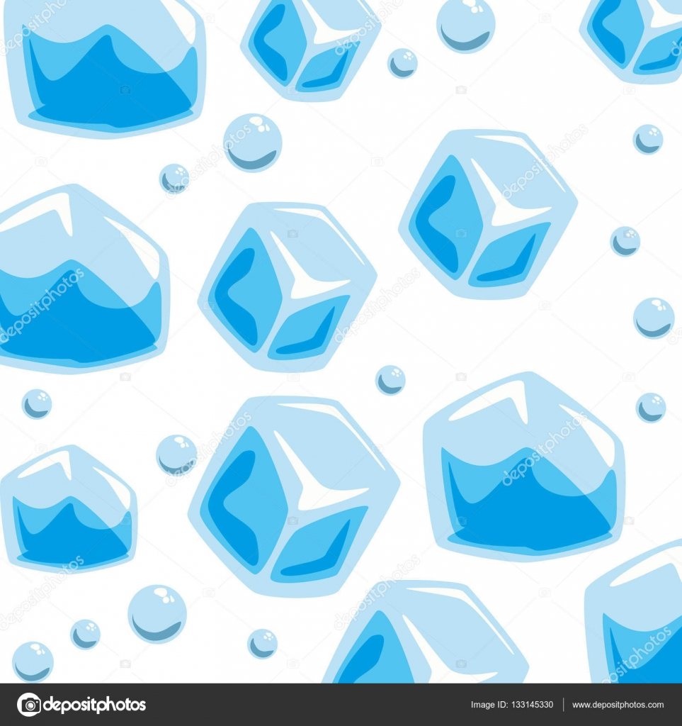 Ice Cube clipart solid Bubbles Wallpaper solid Stock —
