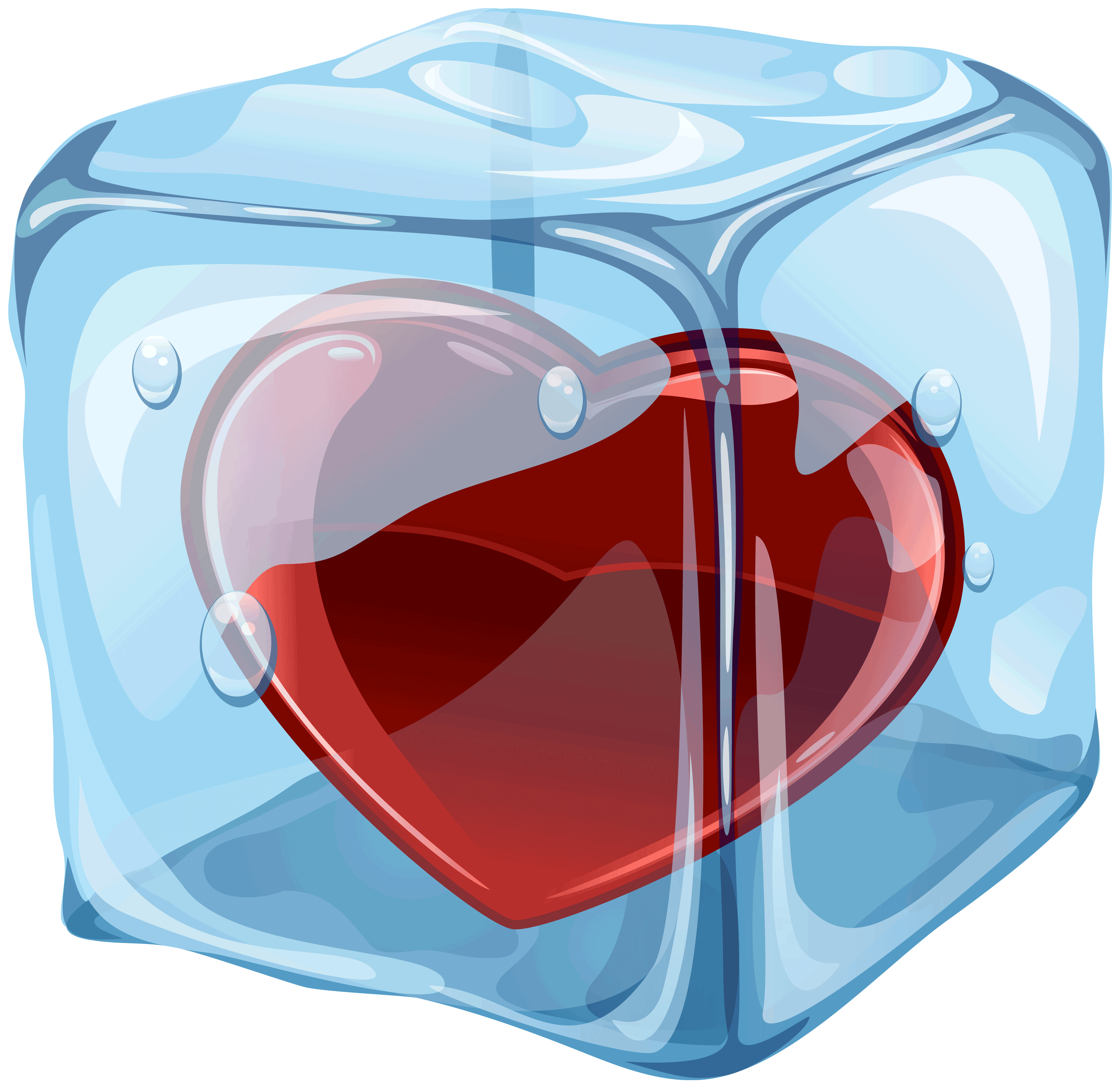 Ice Cube clipart transparent Ice  Heart PNG Cube
