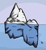 Iceberg clipart Free Royalty Iceberg GoGraph Art