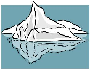 Iceberg clipart Clipart iceberg Data Collection clipart