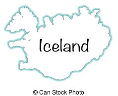 Iceland clipart Stock map   background