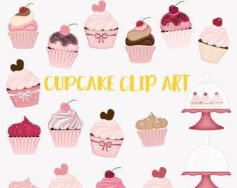 Vanilla Cupcake clipart sweet treat Chocolate baking clipart frosting cherry