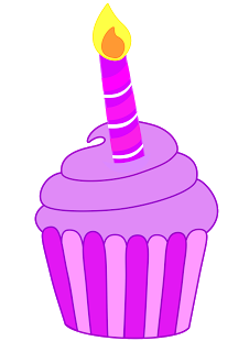 Vanilla Cupcake clipart candle clipart Cupcakes Treasures: Classroom Birthday Cupcakes