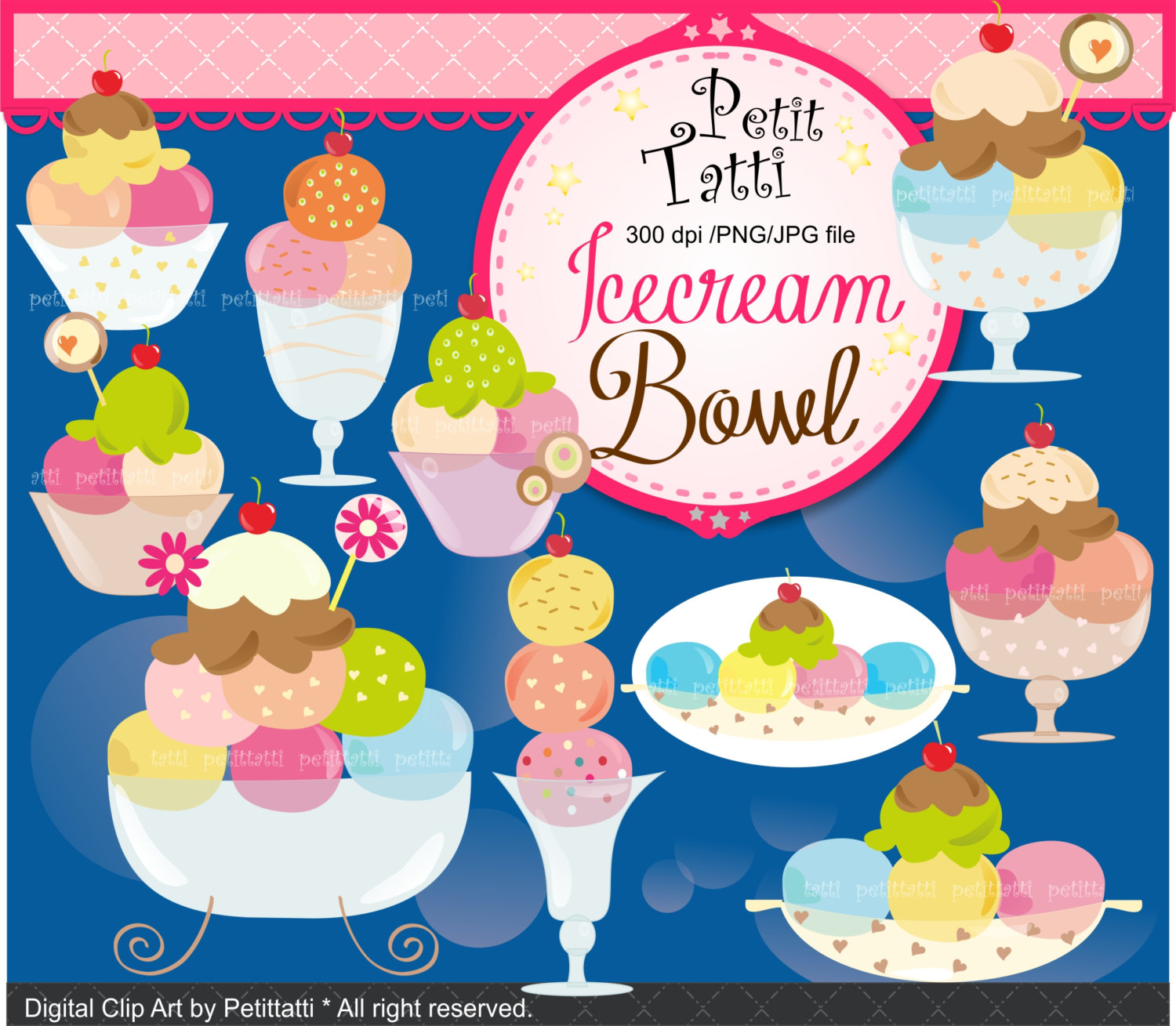 Icing clipart bowl Art  Digital This SALE