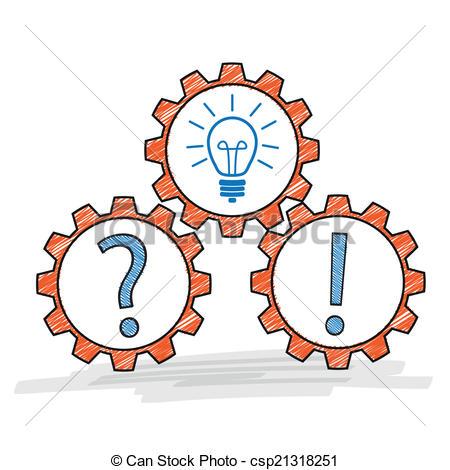 Idea clipart answer Gears Gears Clipart Vector Gears