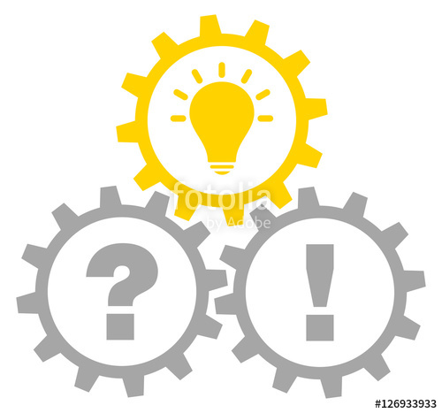 Idea clipart answer Gears Grey/Yellow Grey/Yellow Outline Question