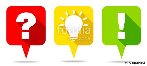 Idea clipart answer Question Speechbubbles Question Answer