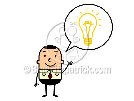 Idea clipart cartoon An an Cartoon Lightbulb an