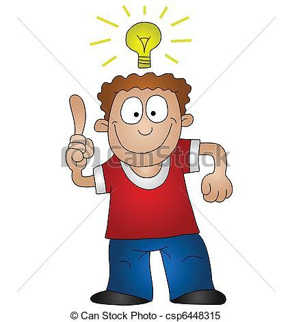 Idea clipart cartoon Bright Cartoon of Clipart bright