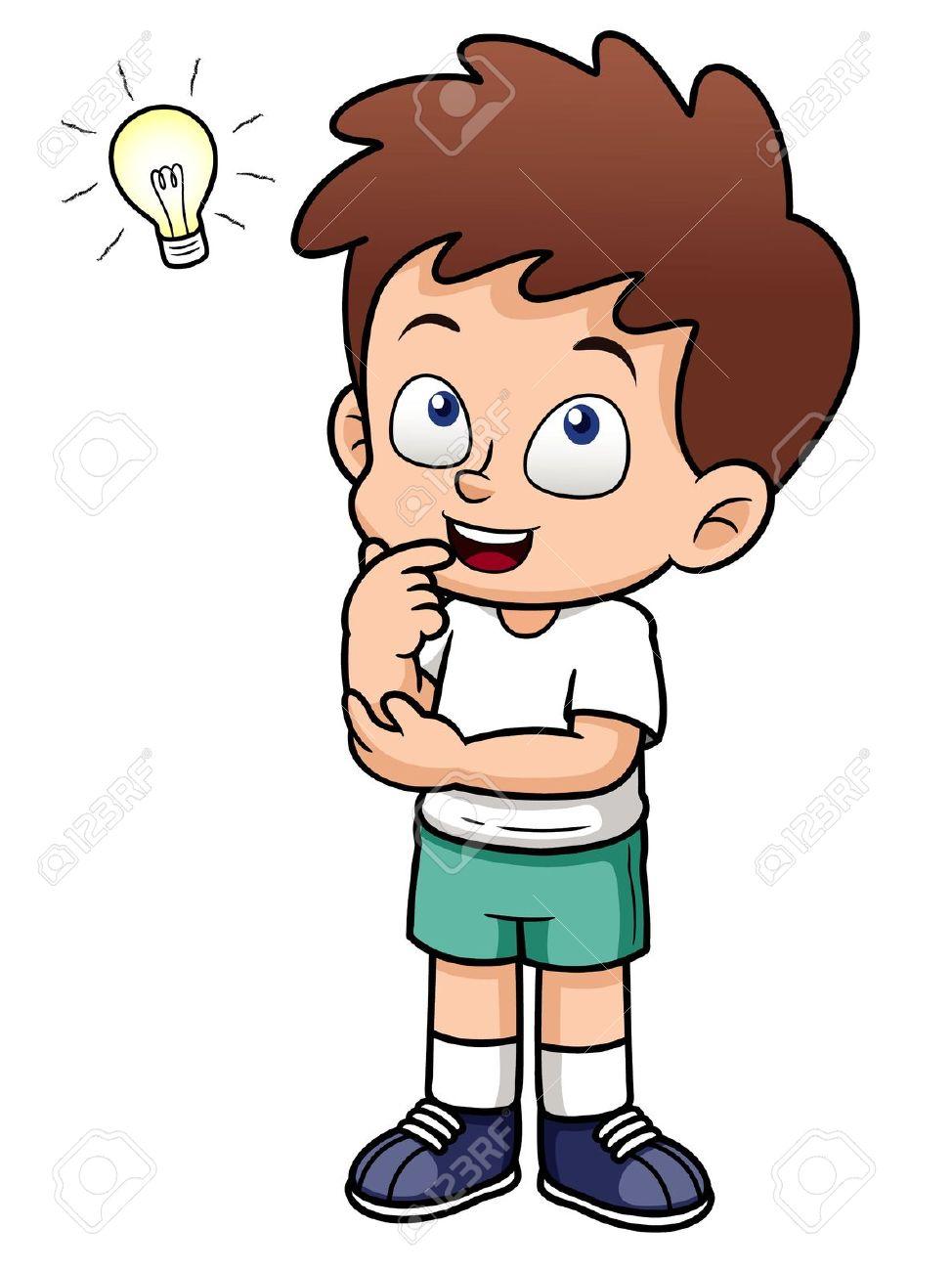 Winning clipart intelligent boy Com Thinking #14285 Clipartion Best
