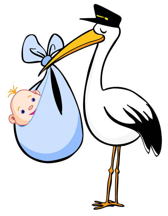 Blue clipart stork Birth Announcements Birth blanket and