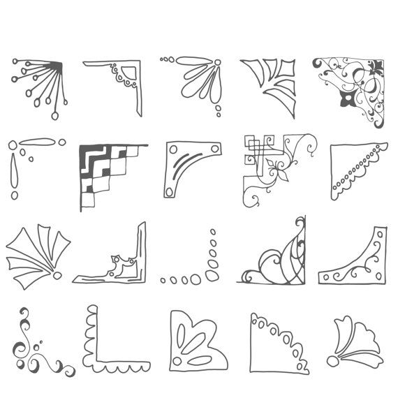 Drawn bullet clipart // Picture Hand Corners //
