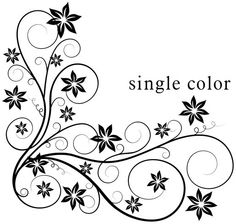 Swirl clipart single Patterns collections borders Simple+Corner+Borders+Clip+Art outlined