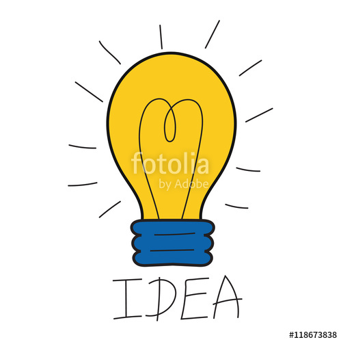 Idea clipart electric bulb Vector innovation design creativity design