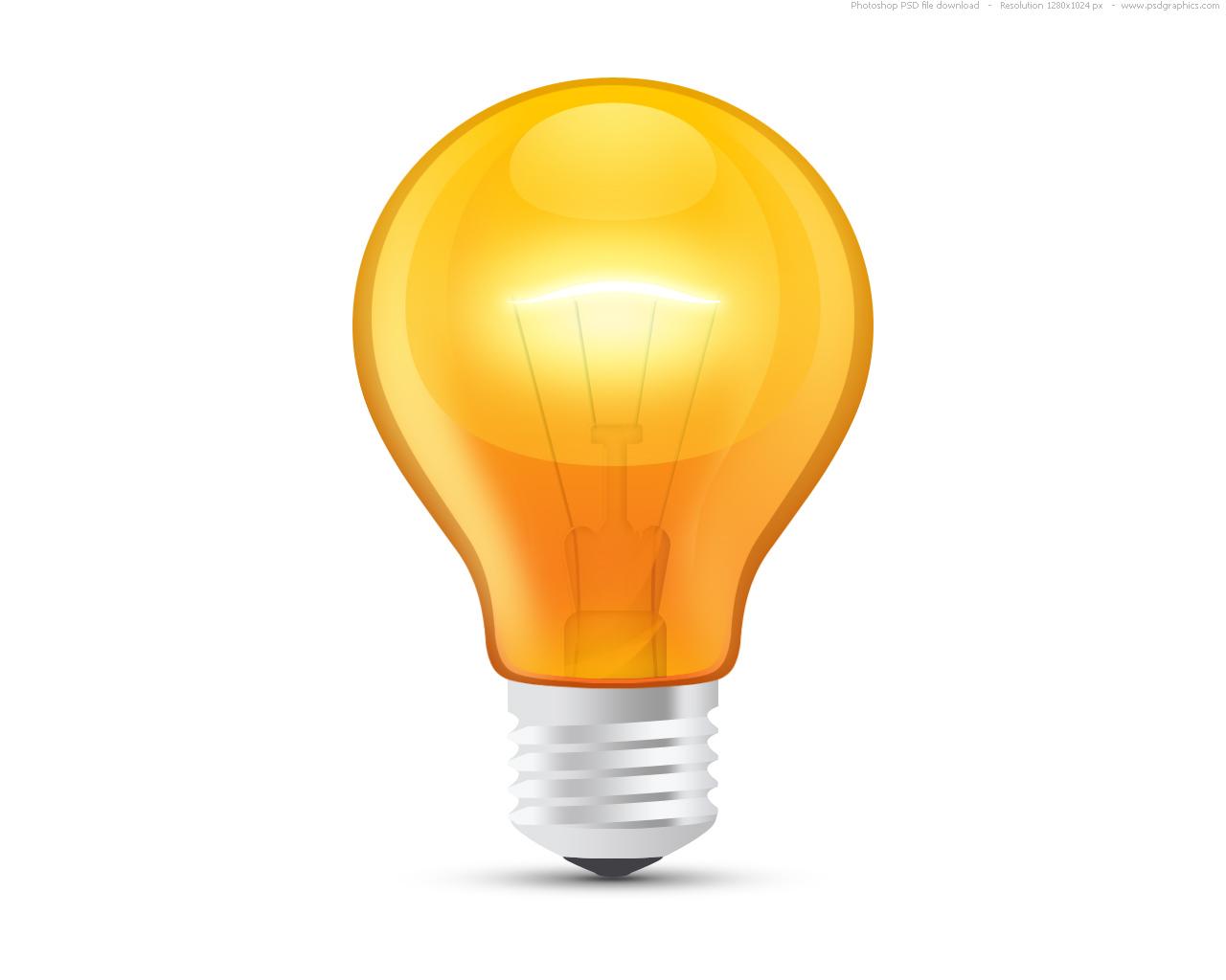 Idea clipart electric bulb Psdgraphics  bulb orange clipart