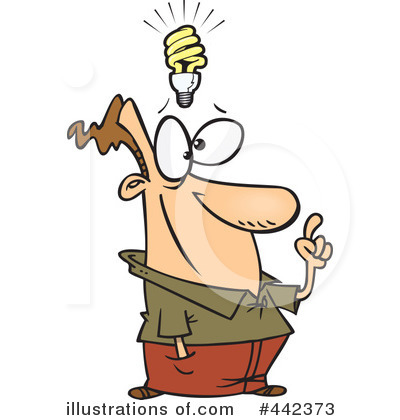 Idea clipart illustration Toonaday #442373 Idea Free Clipart