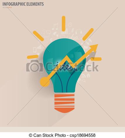 Idea clipart inspiration Creative strategy inspiration Vector of
