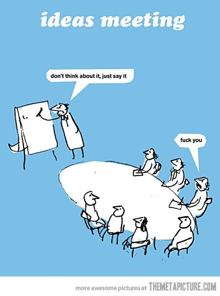 Meeting clipart funny #3