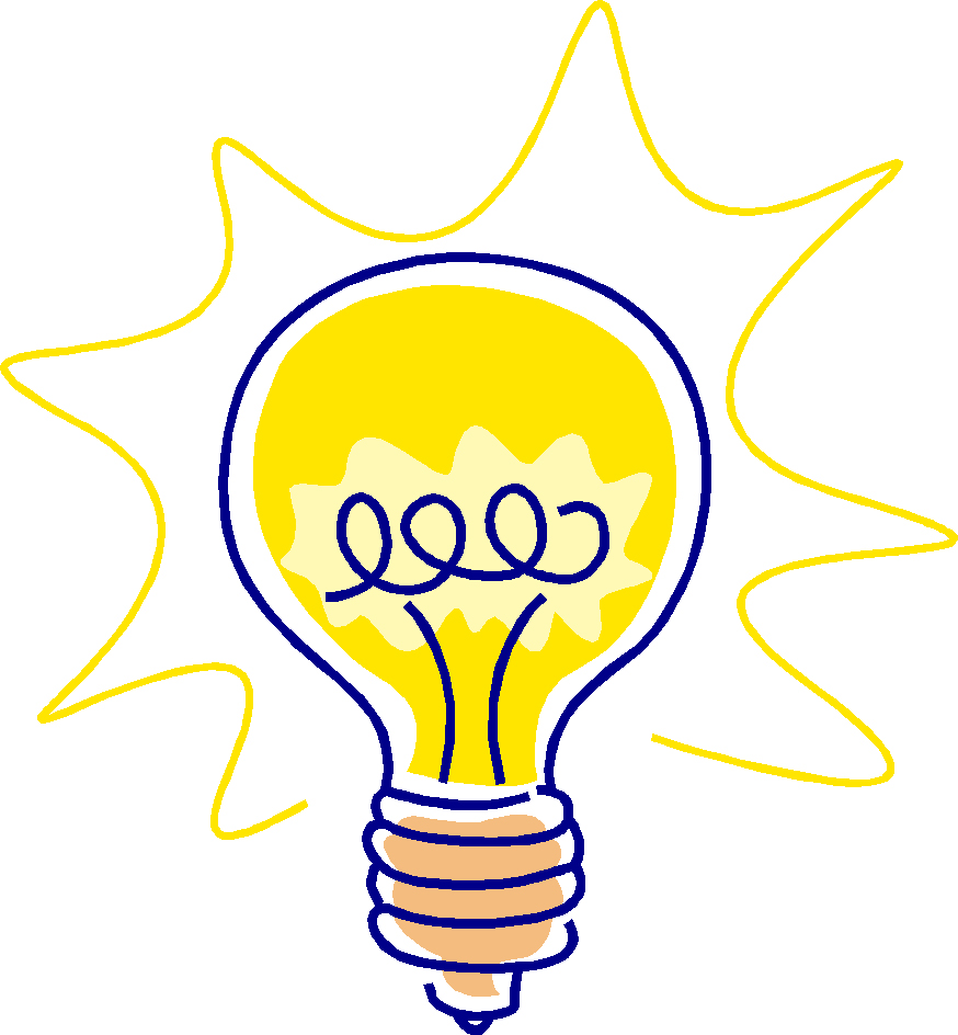 Bulb clipart statement problem Idea light clipart Idea is