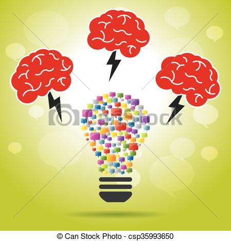 Idea clipart lamp Lamp Art idea Brainstorm lightning