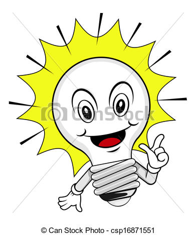 Idea clipart lamp Of cartoon idea cartoon csp16871551