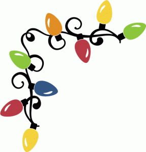 Christmas Lights clipart painting Borders clipart on Design #70786: