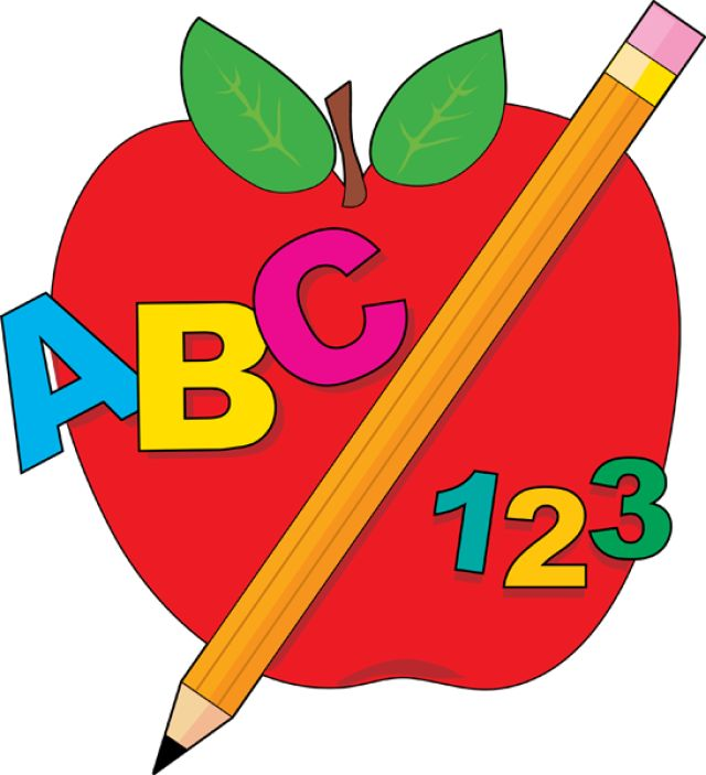 Crayon clipart apple Back Apple school Clip Pencil