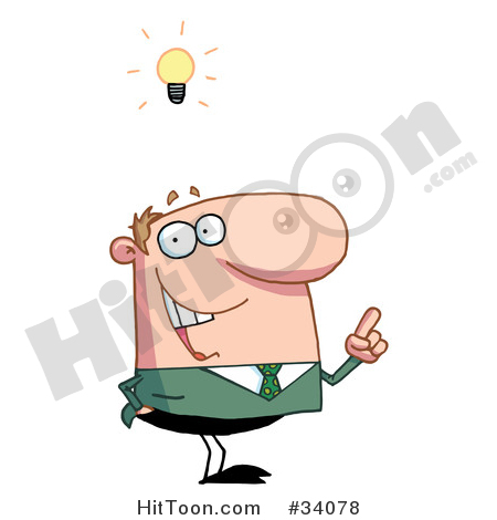 Idea clipart smart man #1