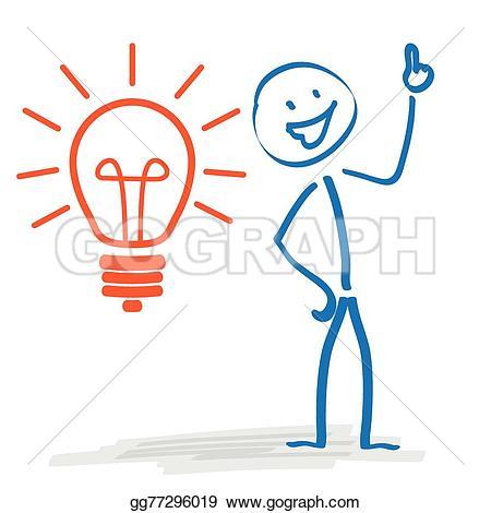 Idea clipart stickman GoGraph EPS Stickman gg77296019 Vector