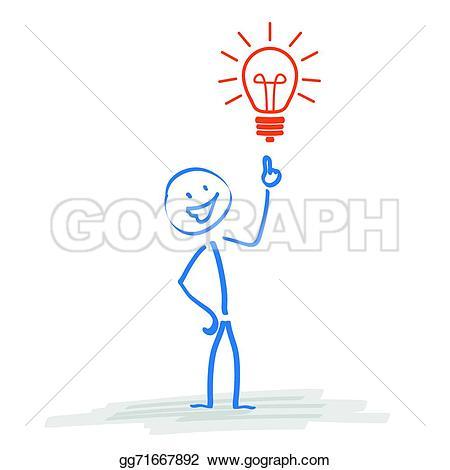 Idea clipart stickman Vector the Illustration Clipart