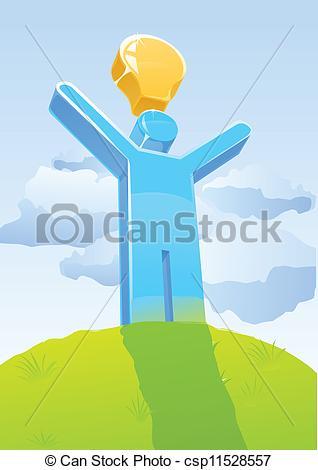 Idea clipart stickman Man Vector man csp11528557 Stick