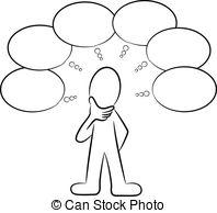 Illustration clipart thinker Stock  Art Thinking Illustrations